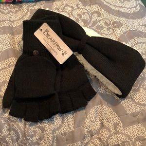 Bearpaw headband and gloves combo, NWT!
